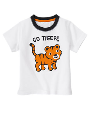 White Go Tiger! Tee by Gymboree