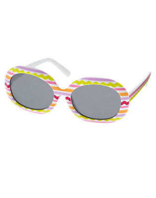 White Rickrack Stripe Sunglasses by Gymboree
