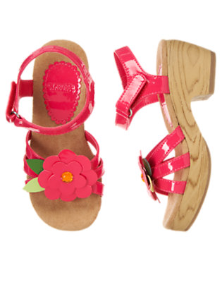 Girls Popsicle Pink Gem Flower Clog Sandal by Gymboree