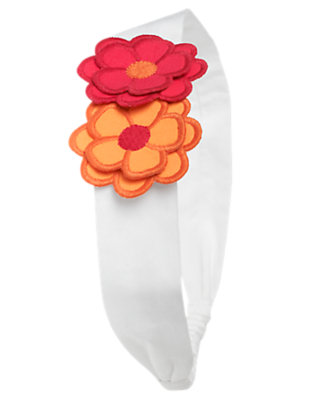 White Flower Headband by Gymboree