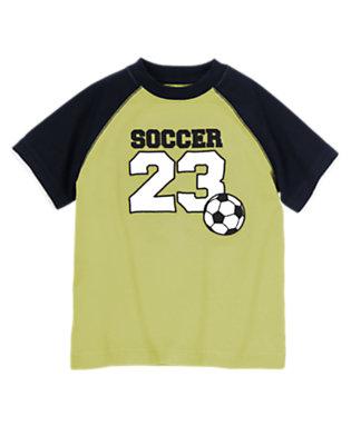 Goalie Green Soccer Raglan Tee by Gymboree