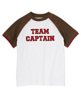 White Team Captain Raglan Tee by Gymboree