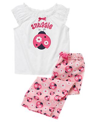 Ladybug Pink Snuggle Ladybug Two-Piece Pajama Set by Gymboree