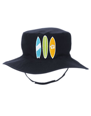 Boys Spring Navy Surfboard Hat by Gymboree