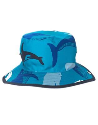 Boys Orca Blue Whales Whale Bucket Hat by Gymboree