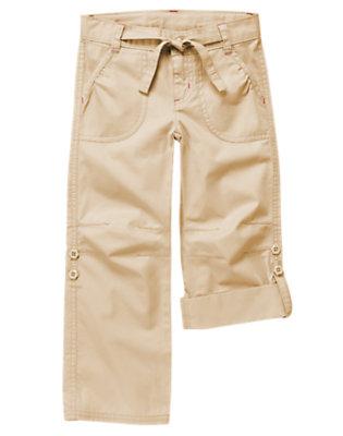 Khaki Belted Roll Cuff Pant by Gymboree