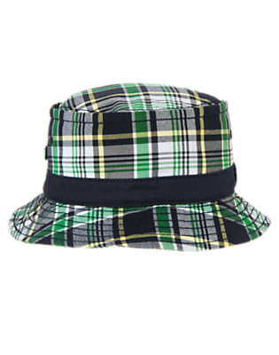 Toddler Boys Dark Navy Plaid Plaid Bucket Hat by Gymboree
