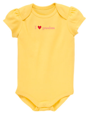 Yellow Butterfly I Love Grandma Bodysuit by Gymboree