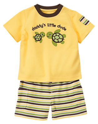 Banana Yellow Daddy's Little Dude Two-Piece Set by Gymboree