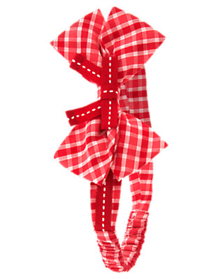 Baby Poppy Red Plaid Bow Plaid Fruffle by Gymboree