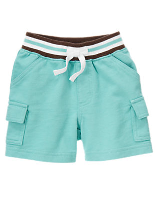 Marine Blue Terry Cargo Short by Gymboree