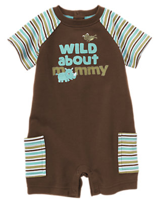 Chocolate Brown Wild About Mommy Shortie One-Piece by Gymboree
