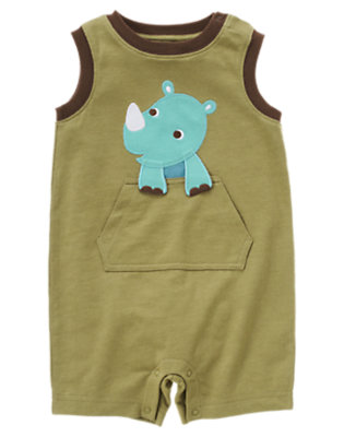 Reed Green Rhino Shortie One-Piece by Gymboree