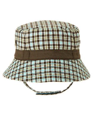 Chocolate Brown Plaid Plaid Bucket Hat by Gymboree
