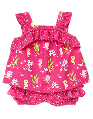 Seahorse Pink Seahorse Two-Piece Set by Gymboree