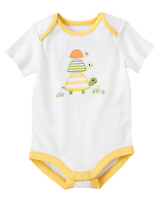 White Turtle Bodysuit by Gymboree