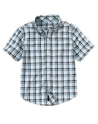 Horizon Blue Plaid Plaid Shirt by Gymboree