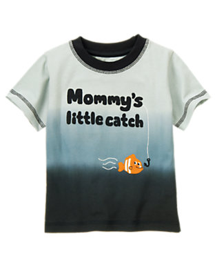 Shark Blue Mommy's Little Catch Tee by Gymboree