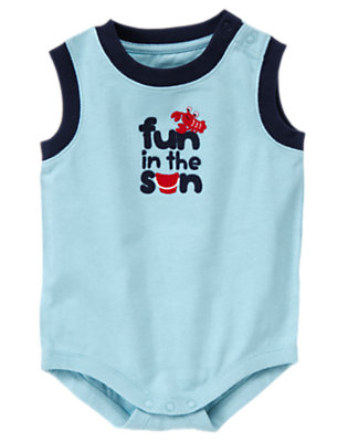 Sea Breeze Blue Fun In The Sun Tank Bodysuit by Gymboree