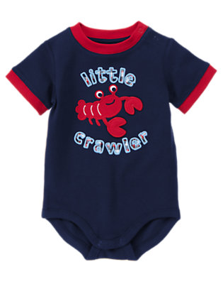 Summer Navy Little Crawler Bodysuit by Gymboree