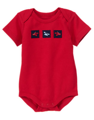 Lobster Red Lobster Patch Bodysuit by Gymboree