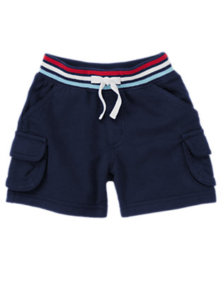 Summer Navy Terry Cargo Short by Gymboree