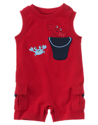 Lobster Red Lobster Cargo Shortie One-Piece by Gymboree