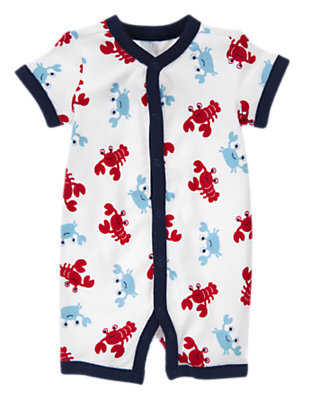 White Lobster Shortie One-Piece by Gymboree