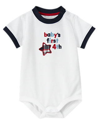 White Baby's First 4th Bodysuit by Gymboree