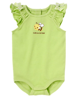 Lime Cute As Can Bee Bodysuit by Gymboree