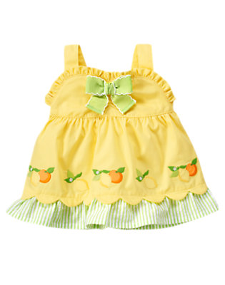 Lemon Yellow Lemon Bumblebee Swing Top by Gymboree