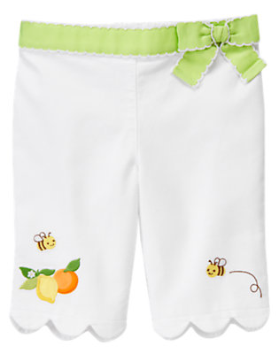 White Lemon Bumblebee Cuff Pant by Gymboree
