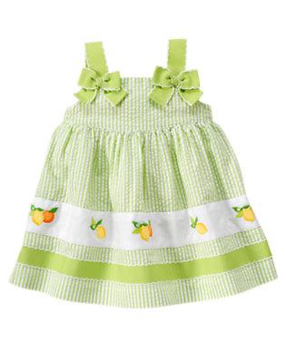 Baby Lime Stripe Lemon Stripe Seersucker Sundress by Gymboree