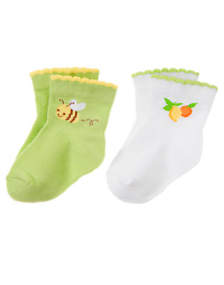 Lime Lemon Bumblebee Sock Two-Pack by Gymboree