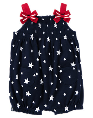 Navy Star 4th Of July Star Bubble by Gymboree