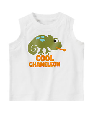 White Cool Chameleon Tank by Gymboree