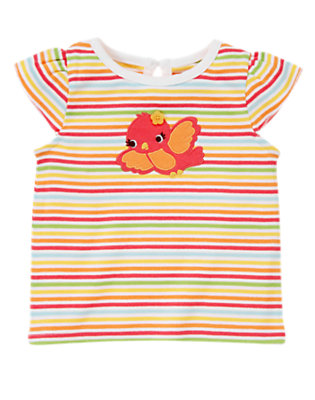 Mango Orange Stripe Song Bird Stripe Tee by Gymboree