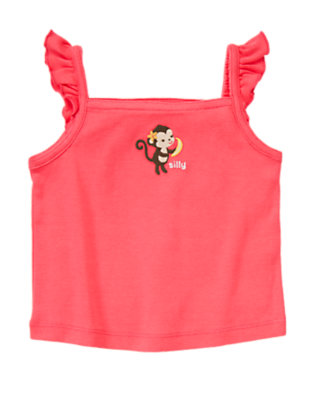 Guava Pink Silly Monkey Tank Top by Gymboree