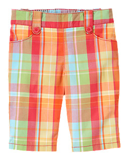 Plaid Capri Pant