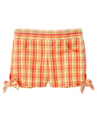 Guava Pink Plaid Plaid Short by Gymboree