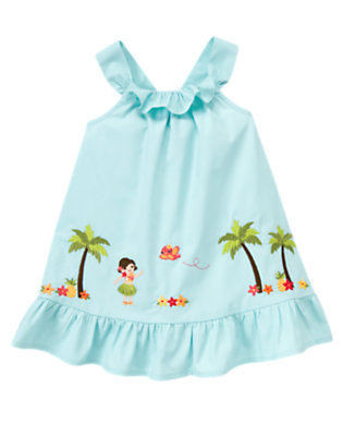 Sky Blue Ruffle Paradise Sundress by Gymboree