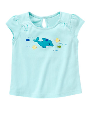 Dolphin Blue Dolphin Fish Tee by Gymboree