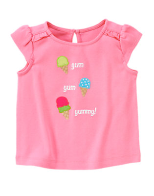 Ice Cream Pink Yum Yum Yummy Tee by Gymboree