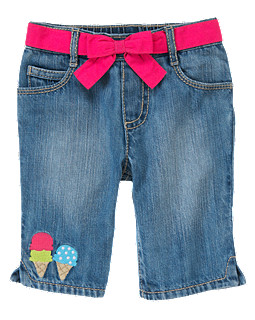Ice Cream Cuff Capri Jean