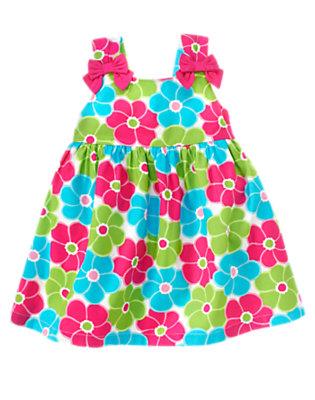 Toddler Girls Lime Blossom Bow Flower Sundress by Gymboree