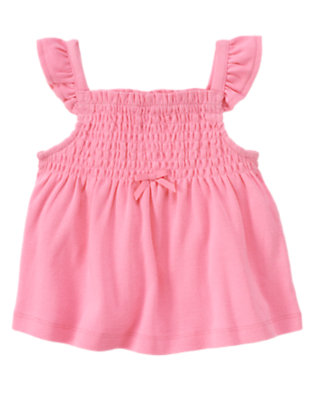 Ice Cream Pink Smocked Swing Top by Gymboree