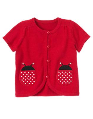 Girls Ladybug Red Ladybug Pocket Cardigan Sweater by Gymboree