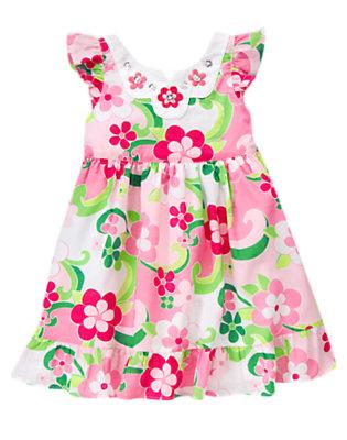 Mermaid Pink Floral Gem Floral Dress by Gymboree