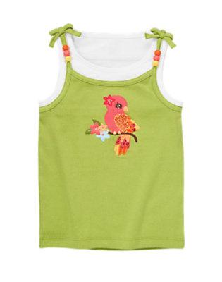 Parrot Green Lovebird Tank Top by Gymboree