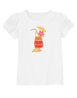 White Tropical Punch Tee by Gymboree